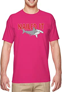 Nailed It - Hammerhead Shark Pun Funny Men's T-Shirt