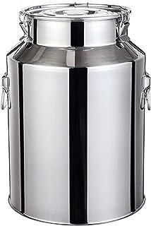 Le Lait en Acier Inoxydable Can, vin Pail Seau Fourre-Tout Jug Lait Pot Canister Seau avec Couvercle étanche Heavy Duty (T...