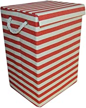 JUAN Foldable Home Clothes Storage Fabric Four Colors Optional (Color : Red lid, Size : 29 * 24 * 44cm)