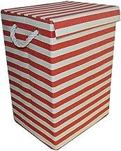 JUAN Foldable Home Clothes Storage Fabric Four Colors Optional (Color : Red lid, Size : 29 * 24 * 44cm)