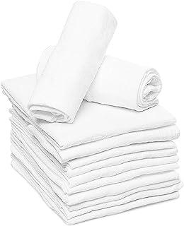 Sponsored Ad - Ruvanti 10 Pack Birdseye Cloth Diapers .100% Organic Cotton Reusable Diapers Cloth/Paperless Towels/Reusabl...