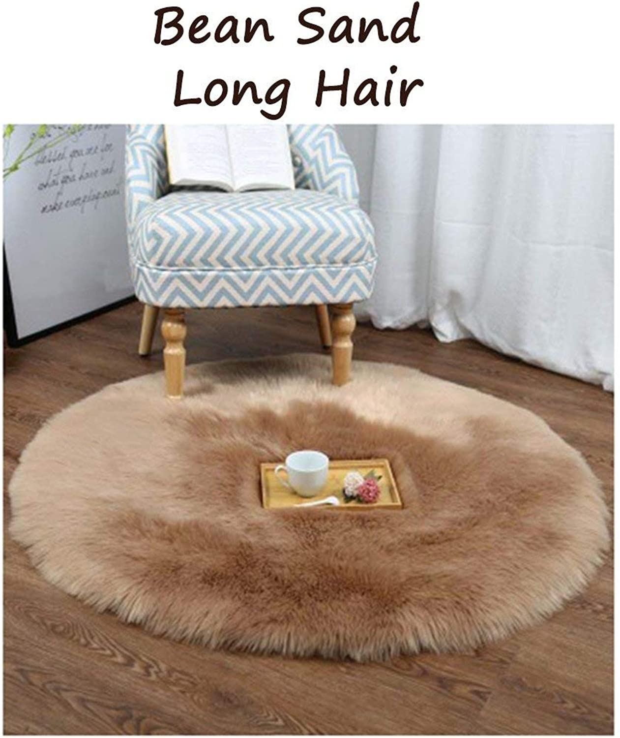 Royare Home Decorations mat Style Imitation Wool Multicolor Round Computer Chair Basket Yoga Mat Carpet for A Variety of Spaces