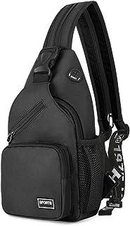 FANDARE Damen Brusttasche Klein Rucksack mit Kopfhörerloch Sling Bag Mädchen Schultertasche Crossbody Umhängetasche Reisen...