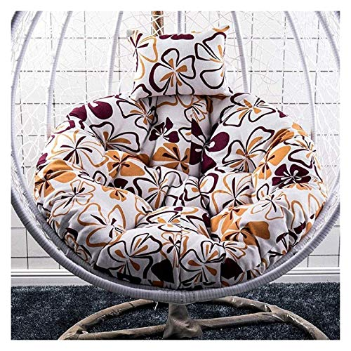 LLNN Home Decoration Swing Chair Cushion Swing Seat Cushion Thick Nest Hanging Chair Back with Pillow Hanging Egg Hammock Chair Cushioning for Indoor or Outdoor Hanging Basket Furniture Cushion