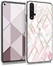 kwmobile Case Compatible with Huawei Nova 5T - TPU Crystal Clear Back Protective Cover IMD Design - Glory Mix 2 Rose Gold/...