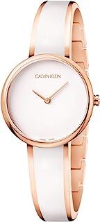 Calvin Klein Reloj Analógico-Digital para Mujer de Cuarzo con Correa en Acero Inoxidable K4E2N616