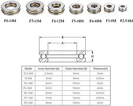 Sets of 7 Size Flat Thrust Ball Bearing ID. 2.5/3/4/6/7/8mm Mini Miniature Bearings F2.5-6M .F3-8M .F4-10M. F5-10M. F6-12M. F7-13M. F8-14M