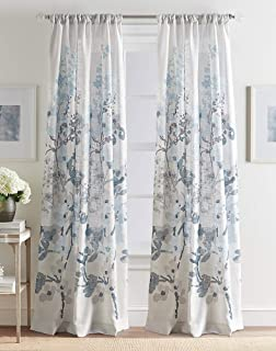 Best navy floral curtain panels Reviews