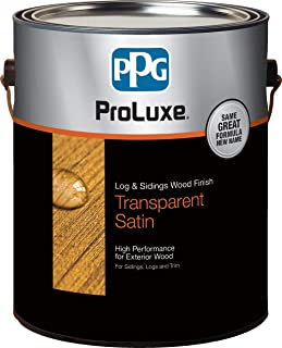 PPG ProLuxe Log and Siding Wood Finish, 1 Gallon, 085 Teak