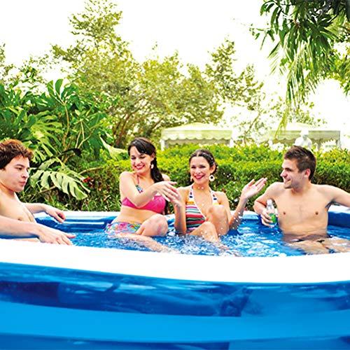 Zhyaj Los Niños Piscina para Jardines Grandes Piscinas Al Aire Libre Portátiles Inflables Paleando Familia Easy Set Piscina,Azul,318 * 180 * 68cm