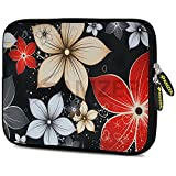 Amzer 7.9-Inch to 10.5-Inch Designer Neoprene Sleeve Case for iPad/Tablet/e-Reader and Notebooks, Wildflowers Red and White (AMZ5239105)