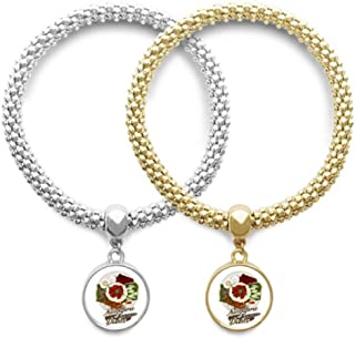 DIYthinker Traditional Singapore Nasi Lemak Lover Couple Bracelet Pendant Jewelry Chain