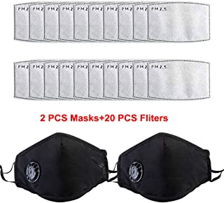 2pcs Reusable Dustproof Mask,Dust Mask PM2.5 Windproof Foggy Haze Pollution Respirator Mask