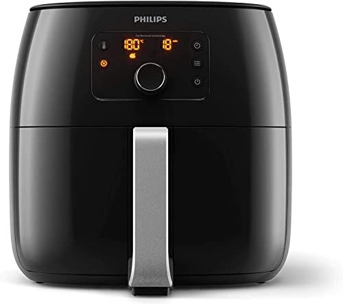 Philips Air Fryer Premium XXL for Fry/Bake/Grill/Roast with Fat Removal and Rapid Air Technology, 1.4kg Capacity, Bla...