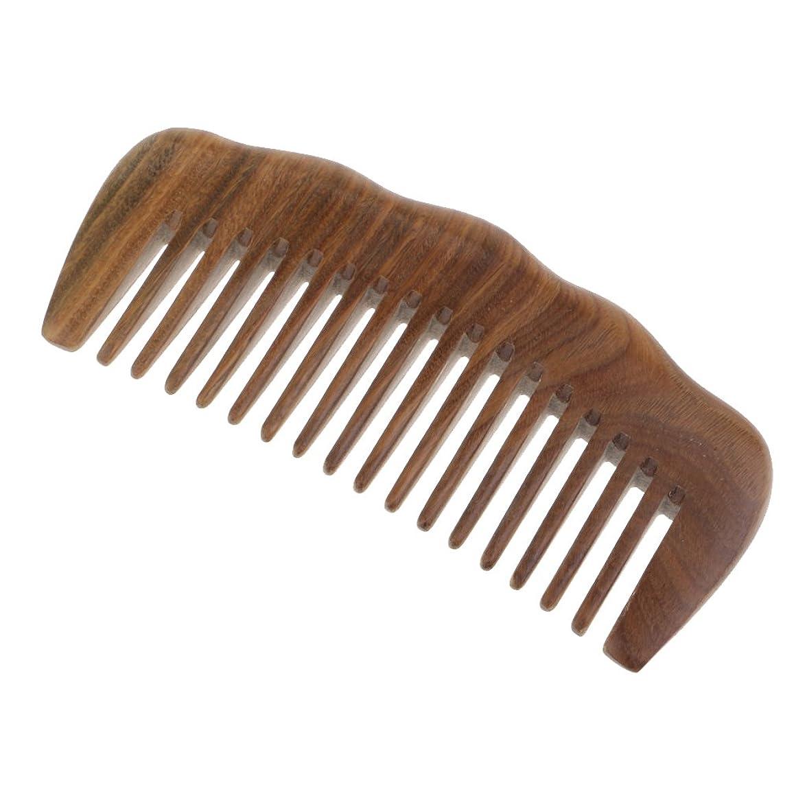 エーカーナプキン幽霊CUTICATE 帯電防止櫛 木製櫛 頭皮マッサージ ヘアコーム 木製ワイド歯ブラシ