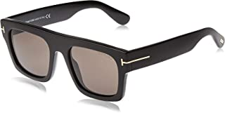 FT0711 01A Shiny Black Fausto Square Sunglasses Lens...
