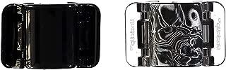 Linziclip Hair Jawclip Midi Black Solid & Black Swirl Bundle, 2-Pack