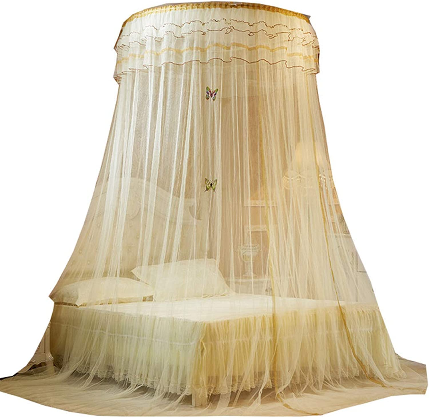FLY Round Lace Curtain Dome Bed Canopy Netting Princess Mosquito Net,5