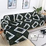 MKQB Funda de sofá elástica en Forma de L para Sala de Estar, Funda de sofá elástica para Muebles modulares, Funda de sofá Antideslizante n. ° 8 4seat-XL- (235-300cm)