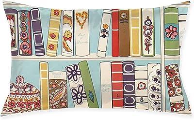 """SKYISOK Pillowcase Flower Bookshelf Decorative Pillow Cover Soft and Cozy, Standard Size 20""""x30"""" with Hidden Zipper"""