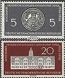 Prophila Collection DDR (RDA) 647-648 (Completa.edición) 1958 Universidad Jena (Sellos para los coleccionistas)