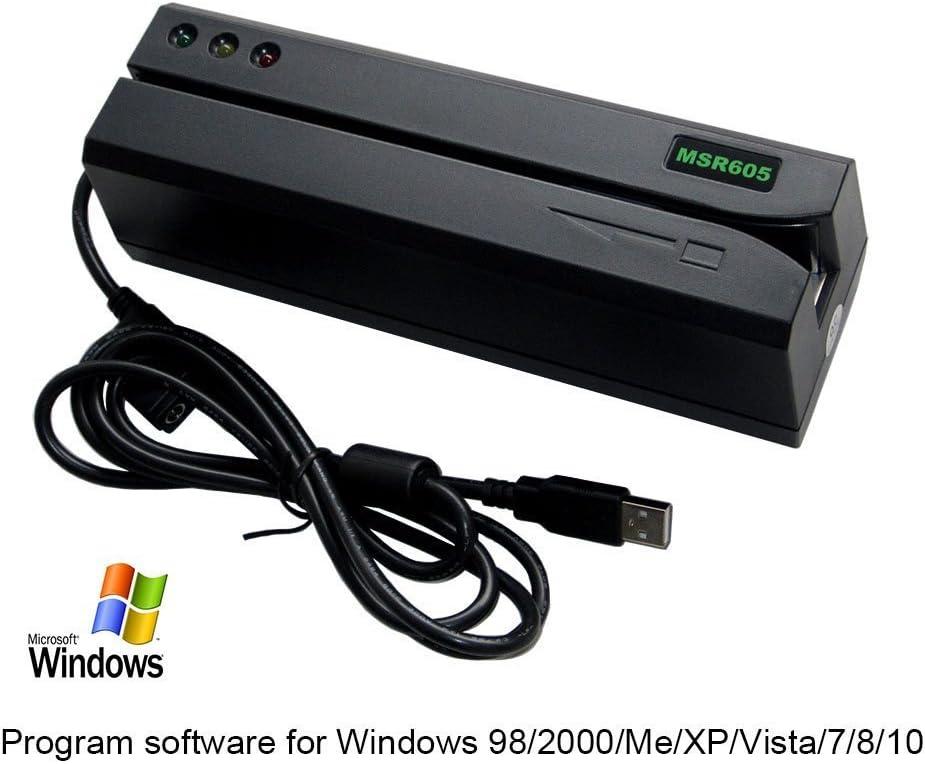 DEFTUN Computer Reader MSR Card 605 for Windows