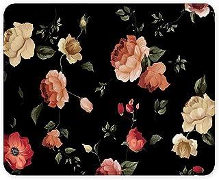 Mouse pad Bosobo, Mouse pad com design de arte, tapete floral para mouse com flores pequenas e personalizadas para jogos, ...
