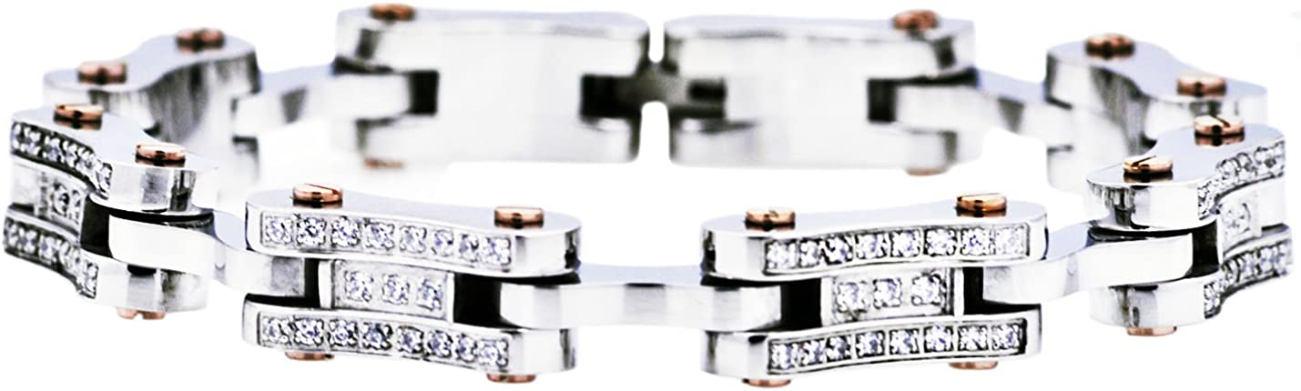 Blackjack Jewelry Bombing free shipping Mens Stainless Steel Link Bracelet with Bike R Free Shipping New