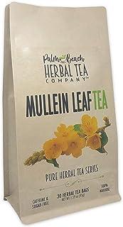 Mullein Leaf Tea - Pure Herbal Tea Series by Palm Beach Herbal Tea Company (30 Tea Bags) 100% Natural