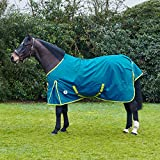 Derby House <span class='highlight'><span class='highlight'>Evolution</span></span> Recycled PFC Free Lightweight Standard Turnout Rug 7ft Tide Blue Sea Green