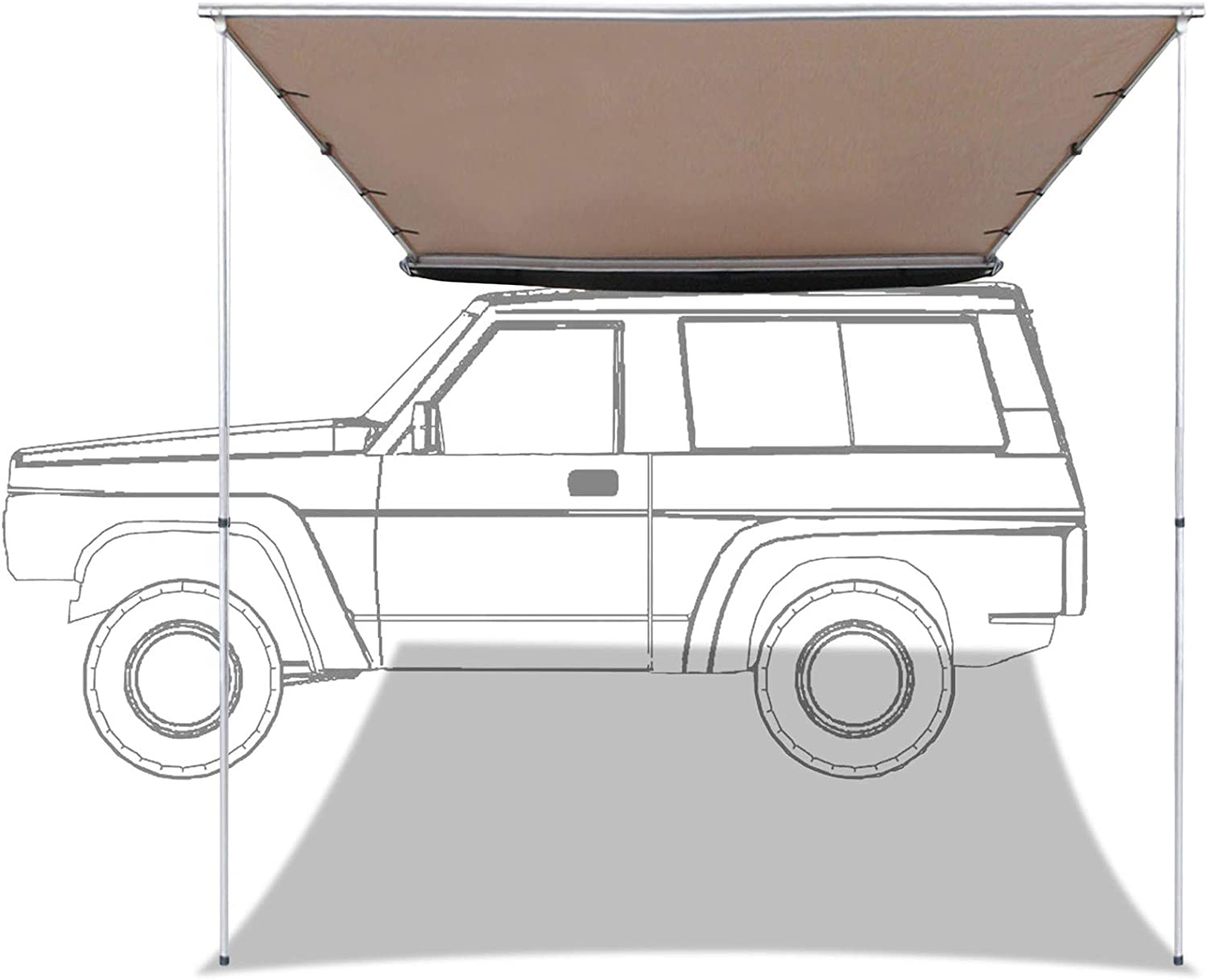 labworkauto Side Awning Retractable Rooftop Shelte SUV Tent At the price Now on sale of surprise