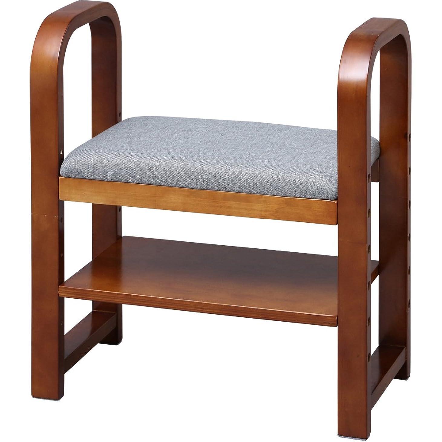 類人猿クアッガ期待してアイリスオーヤマ 玄関椅子 ブラウン GC-55