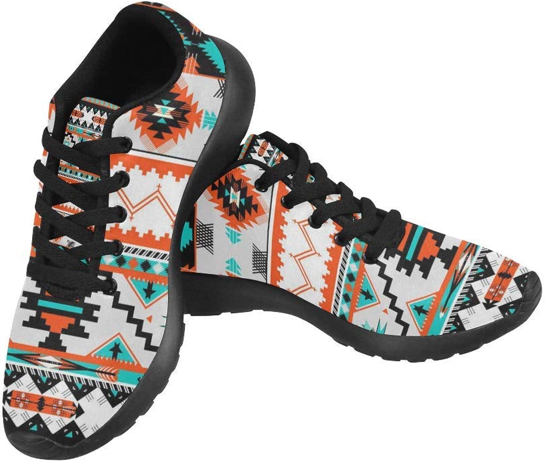 Interest Print Navajo -mönstret Skriv ut på Woherrar Woherrar Woherrar springaning skor Casual ljusljus Athletic skor US Storlek 6 -15  motverka äkta