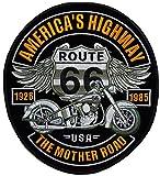 topt mili ecusson Route 66 Biker Motard Moto USA us thermocollant Grand Format 25x23cm patche Badge