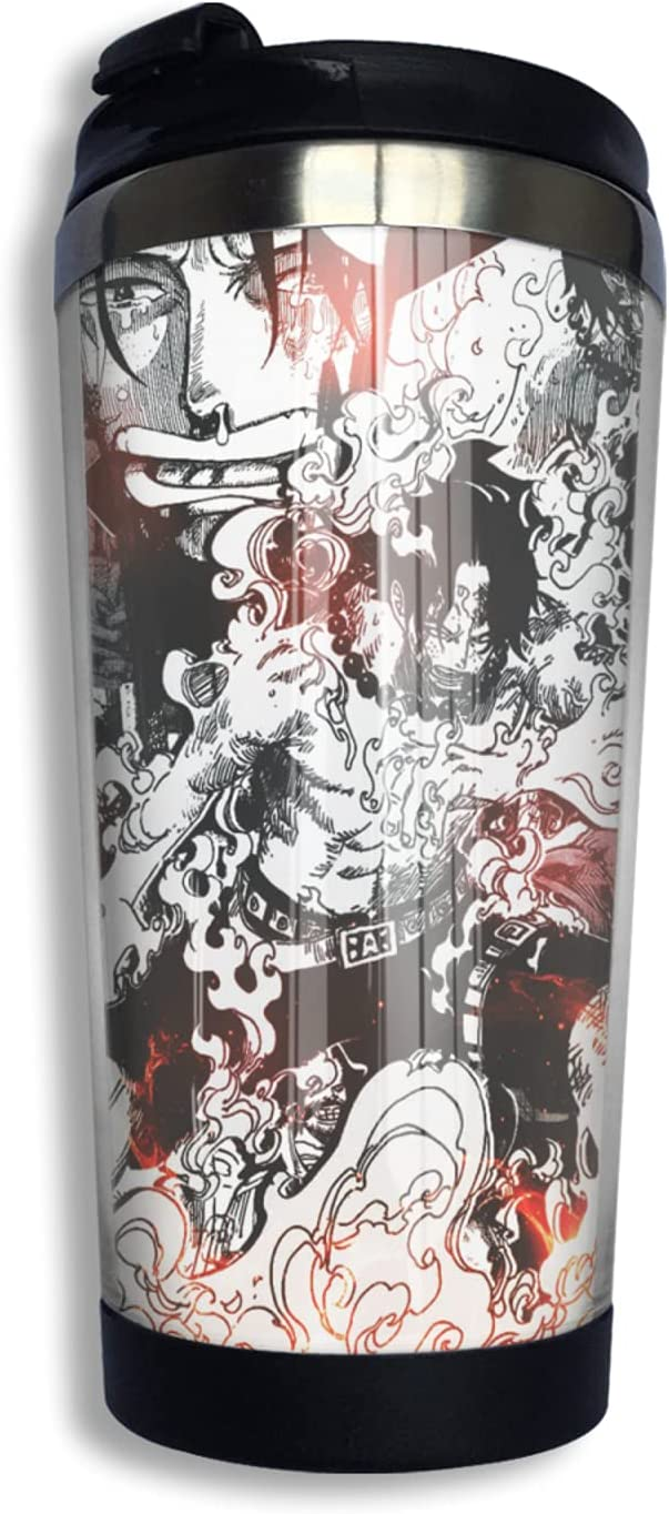 One Piece Portgas·D· Ace Anime Print Cup Latest item Coffee Now free shipping 3d Thermos