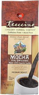 ティーチーノ(Teeccino) オーガニック穀物コーヒー ハーバルコーヒー モカ ミディアムロースト カフェインフリー 312g [海外直送][並行輸入品]