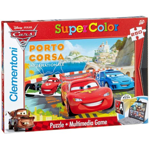 Cars 2 Clementoni 29634.7 Multimedia The Fastest Race Car in The World! - Puzzle (250 Piezas)