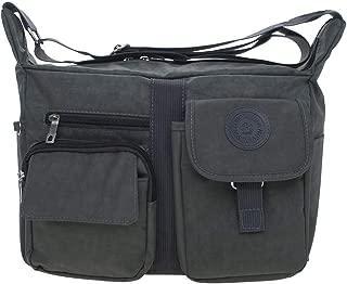 TOPTIE Medium Crossbody Bags for Women Shoulder Bag with Zipper, Crossover Purse-Grey