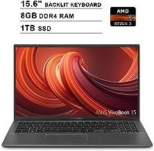 2019 ASUS VivoBook 15 15.6 Inch FHD 1080P Laptop (AMD Ryzen 3 3200U up to 3.5GHz, 8GB DDR4 RAM, 1TB SSD, AMD Radeon Vega 3, Backlit Keyboard, FP Reader, WiFi, Bluetooth, HDMI, Windows 10) (Grey)