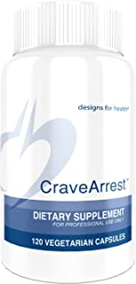 Designs for Health CraveArrest - 1000mg L-Tyrosine + 100mg 5-HTP for Serotonin + Dopamine Support (120 Capsules)