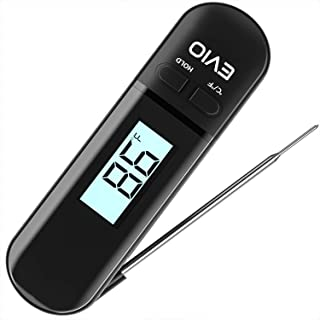 Meat Thermometer Food Thermometer - Digital Instant Read Kitchen Cooking Thermometer with Backlight LCD for Grilling/BBQ/Baking/Candy/Liquids/Oil