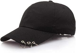 Unisex Mesh Plain Metallic Ring Bill Adjustable Baseball Cap Hip-Hop Hat