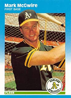 1987 Fleer Update Glossy Baseball Card #U-76 Mark McGwire Oakland Athletics Official MLB Trading Card