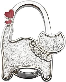 Hot Sale!DEESEE(TM)🌸🌸Mini Cute Cat Folding Hanger Holder Table Hook For Purse Handbag Utility (J)