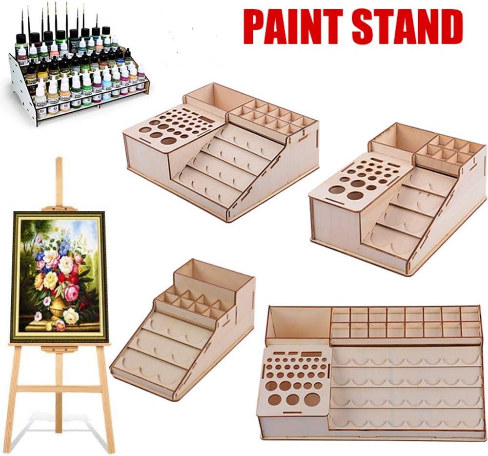 tooloflife Farbst/änder Modellbau Farben Werkzeuge Aufbewahrung Organizer 4 Typen Farbst/änder Miniaturen Farbhalter Pinselhalter Regal