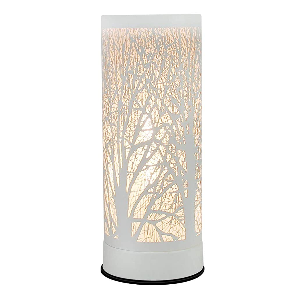 JUWA Wax Warmer for Scented Wax, Fragrance Warmer Lamp Electric Candle Wax Melt Warmers White Metal Forest Design for Home Décor