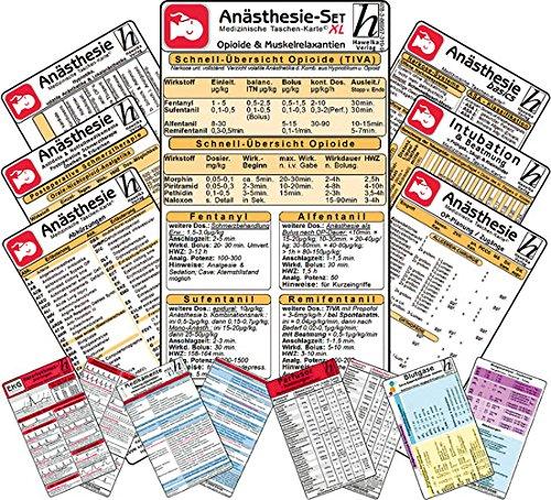 Anästhesie Set -XL- 11 Karten-Set - Antidota & Notfallmedikamente + Postoperative Schmerztherapie, Intubation & Beatmung, basics, Opioide & Muskelrelaxantien, Hypnotika