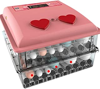 Automatic Egg Incubator 98 Eggs Poultry Hatcher with Automatic Egg Turning and Temperature Humidity Control, Built-in Egg ...
