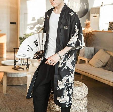 SYXYSM Japoneses Hombres Kimono Ropa Haori Yukata Kimono ...