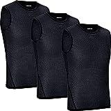 GripGrab Camiseta Interior Ciclismo Pack 1 o 3 uds Sin Mangas de Rejilla Ropa Técnica Ciclista Transpirable Unisex,...